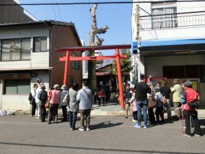 ウォーキング大三島神社前写真